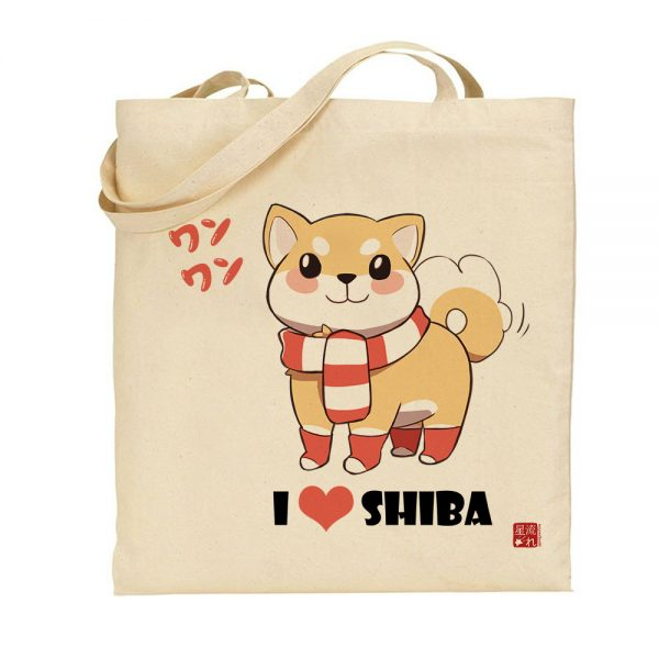 tote-bag shiba love