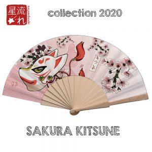 éventail sakura kitsune