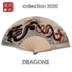 éventail dragons
