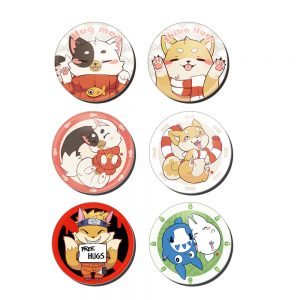 badges ronds 75 mm