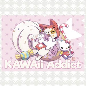 plaque déco kawaii addict