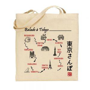 tote-bag balade à tokyo