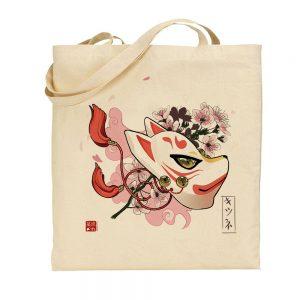 tote-bag sakura kitsune
