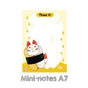 mini notes kitsune