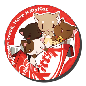 badge 75 kitty kat