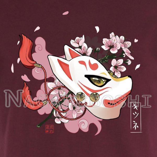 t-shirt sakura kitsune