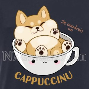 t-shirt shiba cappuccinu