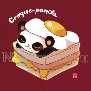 t-shirt croque-panda