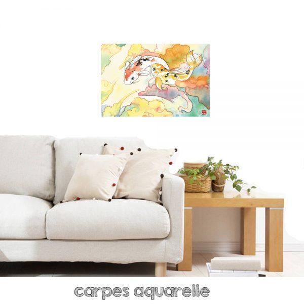 tableau carpes koi