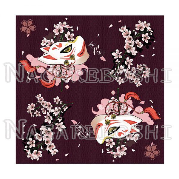 furoshiki sakura kitsune