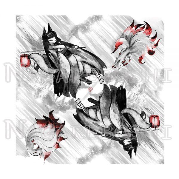 furoshiki démon renard