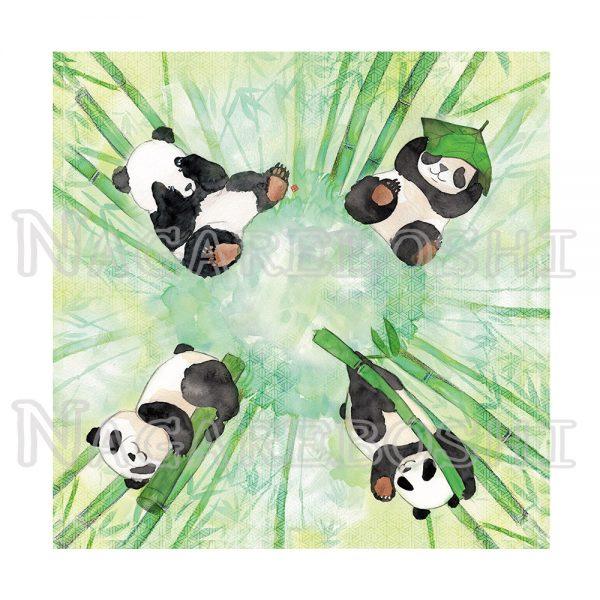 furoshiki panda aquarelle