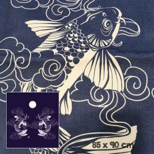 noren carpes japonaises indigo