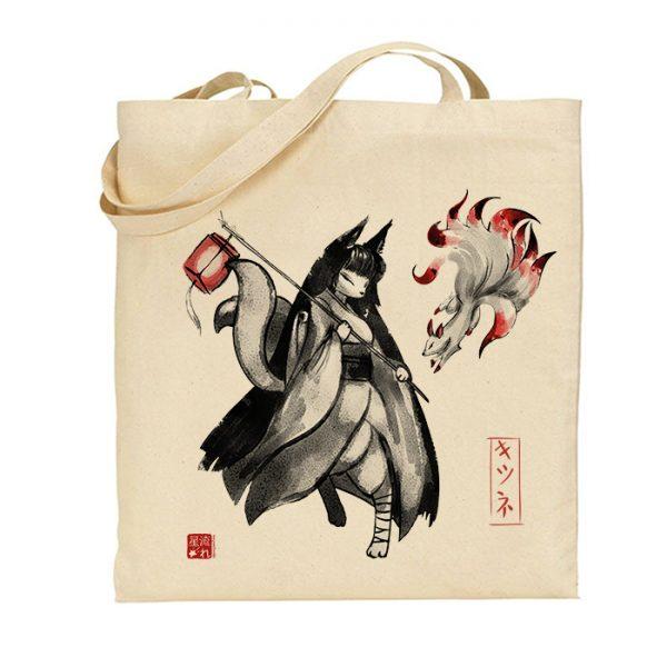 tote-bag démon kitsune
