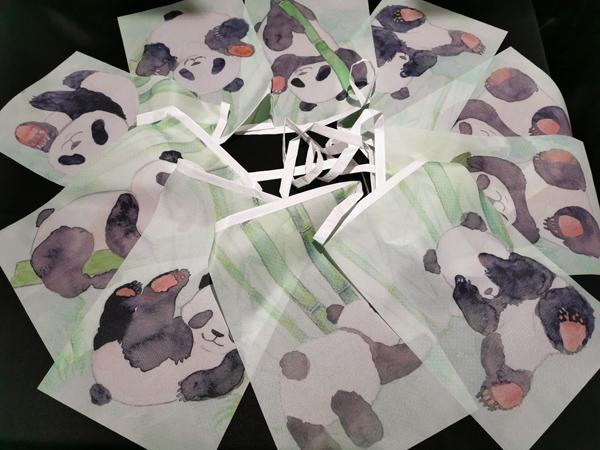 guirlande fanions pandas