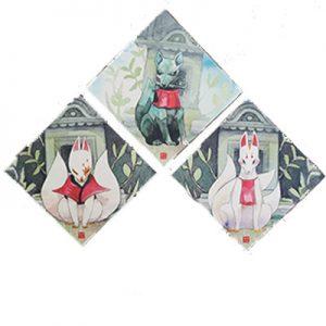déco murale kitsune