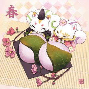 déco sakura mochi