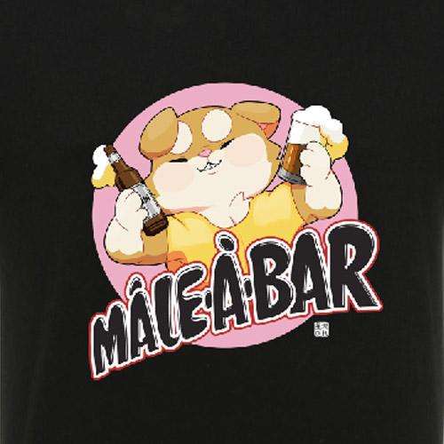 t-shirt mâle à bar