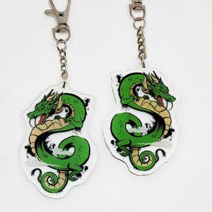 porte-clés dragon vert
