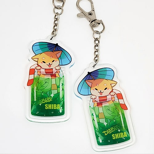 porte-clés diabolo shiba