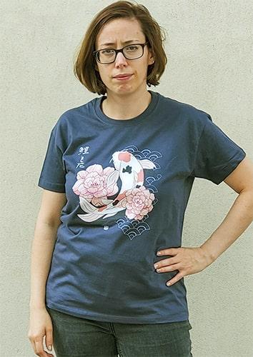t-shirt carpes et fleurs fille