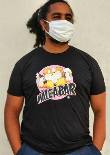 t-shirt mâle à bar XL